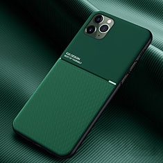 Custodia Silicone Ultra Sottile Morbida 360 Gradi Cover C01 per Apple iPhone 11 Pro Verde