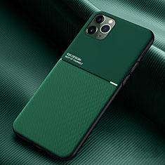 Custodia Silicone Ultra Sottile Morbida 360 Gradi Cover C01 per Apple iPhone 11 Pro Verde