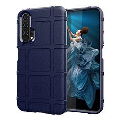 Custodia Silicone Ultra Sottile Morbida 360 Gradi Cover C01 per Huawei Honor 20 Pro Blu