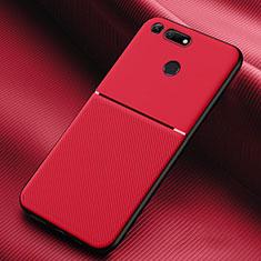Custodia Silicone Ultra Sottile Morbida 360 Gradi Cover C01 per Huawei Honor View 20 Rosso