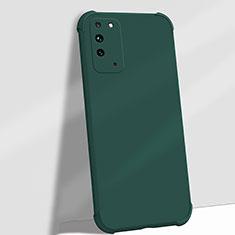 Custodia Silicone Ultra Sottile Morbida 360 Gradi Cover C01 per Huawei Honor X10 5G Verde