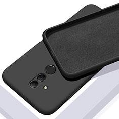 Custodia Silicone Ultra Sottile Morbida 360 Gradi Cover C01 per Huawei Mate 20 Lite Nero