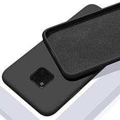 Custodia Silicone Ultra Sottile Morbida 360 Gradi Cover C01 per Huawei Mate 20 Pro Nero