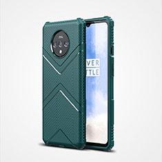 Custodia Silicone Ultra Sottile Morbida 360 Gradi Cover C01 per OnePlus 7T Verde