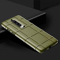 Custodia Silicone Ultra Sottile Morbida 360 Gradi Cover C01 per OnePlus 8 Verde