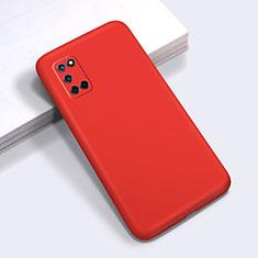Custodia Silicone Ultra Sottile Morbida 360 Gradi Cover C01 per Oppo A52 Rosso