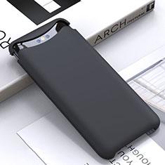 Custodia Silicone Ultra Sottile Morbida 360 Gradi Cover C01 per Oppo Find X Nero