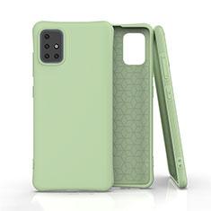 Custodia Silicone Ultra Sottile Morbida 360 Gradi Cover C01 per Samsung Galaxy A51 5G Verde