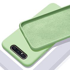 Custodia Silicone Ultra Sottile Morbida 360 Gradi Cover C01 per Samsung Galaxy A80 Verde