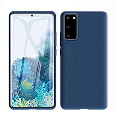 Custodia Silicone Ultra Sottile Morbida 360 Gradi Cover C01 per Samsung Galaxy S20 5G Blu