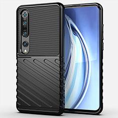 Custodia Silicone Ultra Sottile Morbida 360 Gradi Cover C01 per Xiaomi Mi 10 Pro Nero