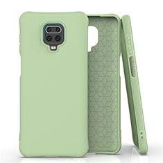 Custodia Silicone Ultra Sottile Morbida 360 Gradi Cover C01 per Xiaomi Redmi Note 9 Pro Verde