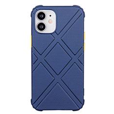 Custodia Silicone Ultra Sottile Morbida 360 Gradi Cover C02 per Apple iPhone 12 Mini Blu