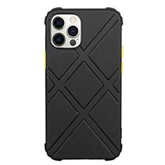 Custodia Silicone Ultra Sottile Morbida 360 Gradi Cover C02 per Apple iPhone 12 Pro Max Nero