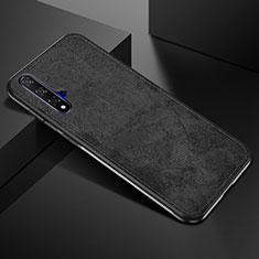 Custodia Silicone Ultra Sottile Morbida 360 Gradi Cover C02 per Huawei Honor 20 Nero