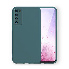 Custodia Silicone Ultra Sottile Morbida 360 Gradi Cover C02 per Huawei Honor Play4 5G Verde Notte