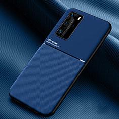 Custodia Silicone Ultra Sottile Morbida 360 Gradi Cover C02 per Huawei P40 Pro Blu