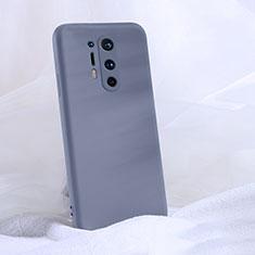 Custodia Silicone Ultra Sottile Morbida 360 Gradi Cover C02 per OnePlus 8 Pro Grigio