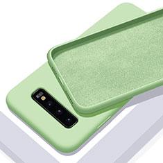 Custodia Silicone Ultra Sottile Morbida 360 Gradi Cover C02 per Samsung Galaxy S10 Plus Verde