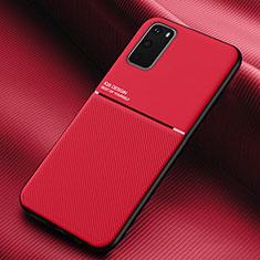 Custodia Silicone Ultra Sottile Morbida 360 Gradi Cover C02 per Samsung Galaxy S20 5G Rosso