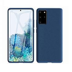 Custodia Silicone Ultra Sottile Morbida 360 Gradi Cover C02 per Samsung Galaxy S20 Plus 5G Blu