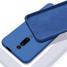 Custodia Silicone Ultra Sottile Morbida 360 Gradi Cover C02 per Xiaomi Mi 9T Blu