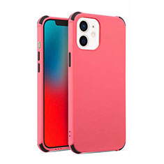 Custodia Silicone Ultra Sottile Morbida 360 Gradi Cover C03 per Apple iPhone 12 Mini Rosso Rosa