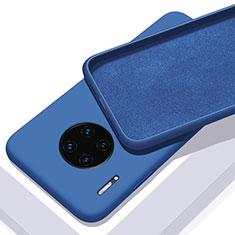 Custodia Silicone Ultra Sottile Morbida 360 Gradi Cover C03 per Huawei Mate 30 Pro Blu