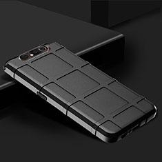 Custodia Silicone Ultra Sottile Morbida 360 Gradi Cover C03 per Samsung Galaxy A80 Nero