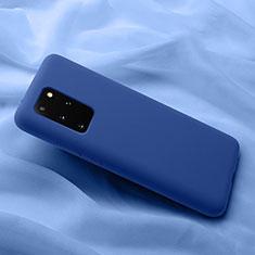 Custodia Silicone Ultra Sottile Morbida 360 Gradi Cover C03 per Samsung Galaxy S20 Plus 5G Blu