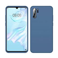 Custodia Silicone Ultra Sottile Morbida 360 Gradi Cover C04 per Huawei P30 Pro Blu