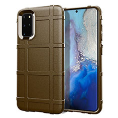 Custodia Silicone Ultra Sottile Morbida 360 Gradi Cover C04 per Samsung Galaxy S20 Plus 5G Marrone