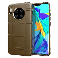 Custodia Silicone Ultra Sottile Morbida 360 Gradi Cover C05 per Huawei Mate 30 Marrone