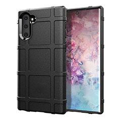 Custodia Silicone Ultra Sottile Morbida 360 Gradi Cover C05 per Samsung Galaxy Note 10 5G Nero