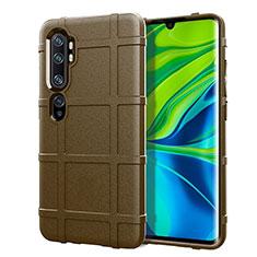 Custodia Silicone Ultra Sottile Morbida 360 Gradi Cover C05 per Xiaomi Mi Note 10 Marrone