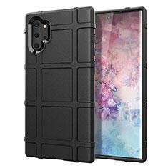 Custodia Silicone Ultra Sottile Morbida 360 Gradi Cover C06 per Samsung Galaxy Note 10 Plus 5G Nero