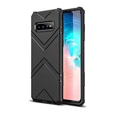 Custodia Silicone Ultra Sottile Morbida 360 Gradi Cover C06 per Samsung Galaxy S10 Nero