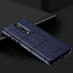 Custodia Silicone Ultra Sottile Morbida 360 Gradi Cover C06 per Xiaomi Mi 9T Blu