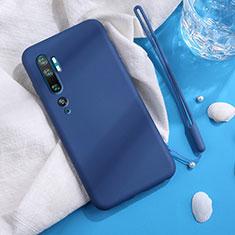 Custodia Silicone Ultra Sottile Morbida 360 Gradi Cover C06 per Xiaomi Mi Note 10 Blu