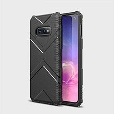 Custodia Silicone Ultra Sottile Morbida 360 Gradi Cover C07 per Samsung Galaxy S10e Nero