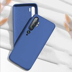 Custodia Silicone Ultra Sottile Morbida 360 Gradi Cover C07 per Xiaomi Mi Note 10 Blu