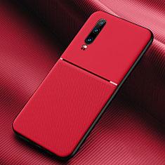 Custodia Silicone Ultra Sottile Morbida 360 Gradi Cover C08 per Huawei P30 Rosso