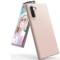 Custodia Silicone Ultra Sottile Morbida 360 Gradi Cover C08 per Samsung Galaxy Note 10 5G Oro Rosa