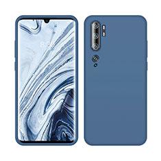 Custodia Silicone Ultra Sottile Morbida 360 Gradi Cover C08 per Xiaomi Mi Note 10 Blu