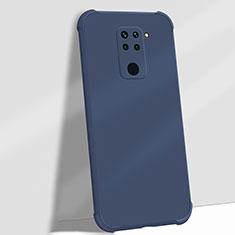 Custodia Silicone Ultra Sottile Morbida 360 Gradi Cover G01 per Xiaomi Redmi Note 9 Blu