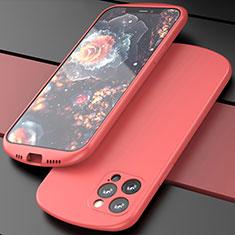 Custodia Silicone Ultra Sottile Morbida 360 Gradi Cover N01 per Apple iPhone 12 Pro Rosso