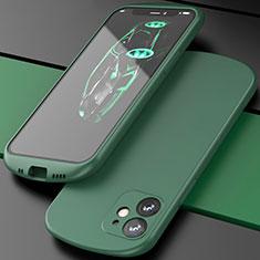 Custodia Silicone Ultra Sottile Morbida 360 Gradi Cover N01 per Apple iPhone 12 Verde