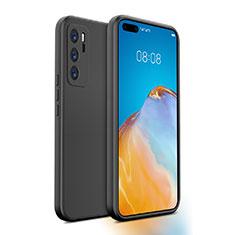 Custodia Silicone Ultra Sottile Morbida 360 Gradi Cover N01 per Huawei P40 Nero