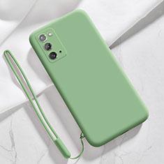 Custodia Silicone Ultra Sottile Morbida 360 Gradi Cover N03 per Samsung Galaxy Note 20 5G Verde Pastello