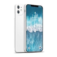 Custodia Silicone Ultra Sottile Morbida 360 Gradi Cover per Apple iPhone 12 Max Bianco